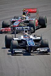 O piloto alemão Nico Hulkenberg durante a primeira volta do Grande Prémio do Brasil de Fórmula 1, em Interlagos, São Paulo. FOTO: Jefferson Bernardes/Preview.com