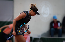 May 30, 2019 - Paris, FRANCE - Madison Keys of the United States in action during her second-round match at the 2019 Roland Garros Grand Slam tennis tournament (Credit Image: © AFP7 via ZUMA Wire)