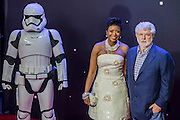 George Lucas - The European Premiere of STAR WARS: THE FORCE AWAKENS - Odeon, Empire and Vue Cinemas, Leicester Square, London.