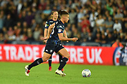 Kalvin Phillips (23) of Leeds United during the EFL Sky Bet Championship match between Swansea City and Leeds United at the Liberty Stadium, Swansea, Wales on 21 August 2018.