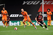 Jonjo Shelvey (8) of Newcastle United on the attack during the Premier League match between Bournemouth and Newcastle United at the Vitality Stadium, Bournemouth, England on 1 July 2020.