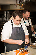 New York, NY - February 12, 2018: Chef Christopher Sheehan of Hartford's Max Downtown presents a whisky-paired dinner at the James Beard House.<br /> <br /> CREDIT: Clay Williams for The James Beard Foundation.<br /> <br /> ©Clay Williams / http://claywilliamsphoto.com
