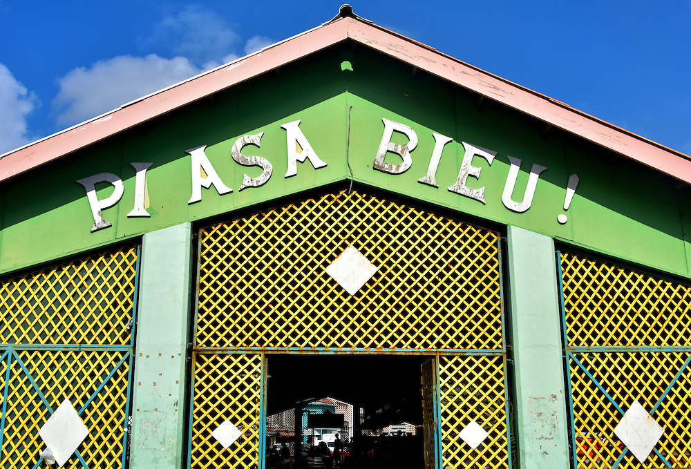 Plasa Bieu Old Market in Punda, Eastside of Willemstad, Curaçao  <br />