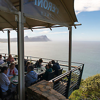 Two Oceans Restaurant is located at Cape Point near Cape Town in South Africa. The restaurants boasts impressive panoramic ocean views and serves fresh seafood dishes.