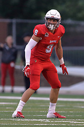 NORMAL, IL - September 08: Mitchell Brees during 107th Mid-America Classic college football game between the ISU (Illinois State University) Redbirds and the Eastern Illinois Panthers on September 08 2018 at Hancock Stadium in Normal, IL. (Photo by Alan Look)