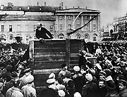 Lenin in Red Square. Vladimir Ilyich Lenin ( 1870 – 1924). Russian revolutionary and communist politician who led the October Revolution of 1917. Also headed the Soviet state during 1917–1924