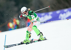 "Maria Shkanova (BLR) in action during 1st Run of the FIS Alpine Ski World Cup 2017/18 7th Ladies' Slalom race named ""Golden Fox 2018"", on January 7, 2018 in Podkoren, Kranjska Gora, Slovenia. Photo by Ziga Zupan / Sportida"