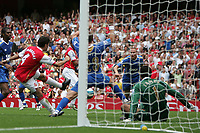 Photo: Lee Earle.<br /> Arsenal v Portsmouth. The FA Barclays Premiership. 02/09/2007.Cesc Fabregas (L) scores their second goal.