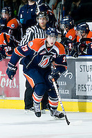 KELOWNA, CANADA, JANUARY 25: Austin Madaisky #23 of the Kamloops Blazers skates on the ice as the Kamloops Blazers visit the Kelowna Rockets on January 25, 2012 at Prospera Place in Kelowna, British Columbia, Canada (Photo by Marissa Baecker/Getty Images) *** Local Caption ***