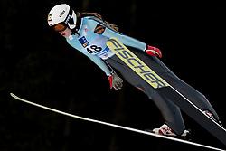 February 7, 2019 - Ljubno, Savinjska, Slovenia - Alexsandra Kustova of Russia competes on qualification day of the FIS Ski Jumping World Cup Ladies Ljubno on February 7, 2019 in Ljubno, Slovenia. (Credit Image: © Rok Rakun/Pacific Press via ZUMA Wire)