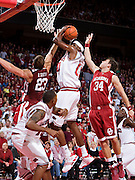 FAYETTEVILLE, AR - DECEMBER 30:   Michael Washington #00 of the Arkansas Razorbacks gets a rebound against the Oklahoma Sooners at Bud Walton Arena on December 30, 2008 in Fayetteville, Arkansas.  The Razorbacks defeated the Sooners 96-88.  (Photo by Wesley Hitt/Getty Images) *** Local Caption *** Michael WashingtonUniversity of Arkansas Razorback Men's and Women's athletes action photos during the 2008-2009 season in Fayetteville, Arkansas....©Wesley Hitt.All Rights Reserved.501-258-0920.