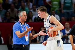 Igor Kokoskov, coach of Slovenia and Luka Doncic of Slovenia during the Final basketball match between National Teams  Slovenia and Serbia at Day 18 of the FIBA EuroBasket 2017 at Sinan Erdem Dome in Istanbul, Turkey on September 17, 2017. Photo by Vid Ponikvar / Sportida