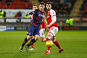 Bradford City forward Shay McCartan (14) plays the ball through during the EFL Sky Bet League 1 match between Rotherham United and Bradford City at the AESSEAL New York Stadium, Rotherham, England on 23 January 2018. Photo by Simon Davies.