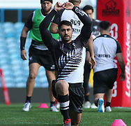 Shaun Johnson during the New Zealand Rugby League captain's run ahead of the 3rd Autumn International Series Match at Elland Road, Leeds.<br /> Picture by Stephen Gaunt/Focus Images Ltd +447904 833202<br /> 10/11/2018