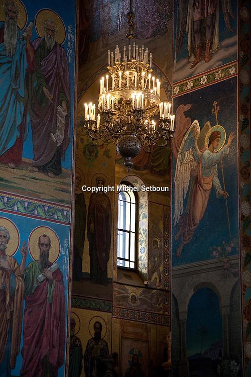 Mosaics . inside decoration Our Saviour on the Split Blood cathedral  - Russia, Saint Petersburg, .///.decorations interieures et mosaiques sur verre de  l eglise du saint sauveur sur le sang verse, saint petersbourg, Russie