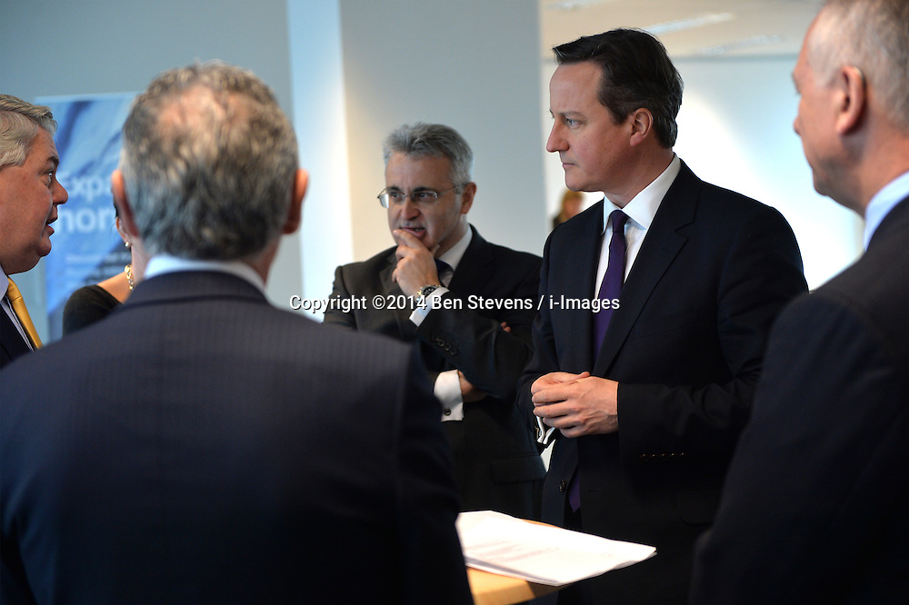 David Cameron meets business women and men at Birmingham airport.<br /> Day 2 of Prime Minister David Cameron's regional tour. <br /> Thursday, 3rd April 2014. Picture by Ben Stevens / i-Images