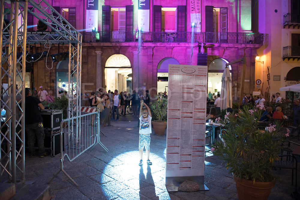 During one of the many thematic evenings in the historic center of Palermo