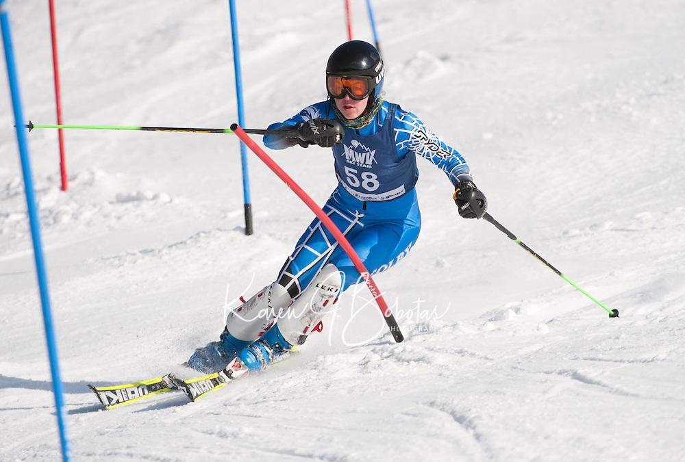 FIS Eastern Cup at Cranmore J1, J2 alpine slalom race January 29, 2012.