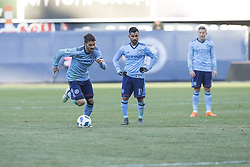 March 11, 2018 - New York, New York, United States - David Villa (7) of NYC FC performs free kick during regular MLS game against LA Galaxy at Yankee stadium NYC FC won 2 - 1 (Credit Image: © Lev Radin/Pacific Press via ZUMA Wire)