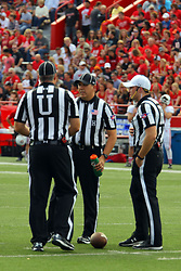 21 October 2017:   Jim Scifres, Jim Swider, Matt Packowski during the South Dakota Coyotes at Illinois State Redbirds Football game at Hancock Stadium in Normal IL (Photo by Alan Look)