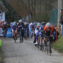 Sportfoto archief 2013<br /> Tour of Flanders women Adrie Visser, Emma Johansson, Marianne Vos