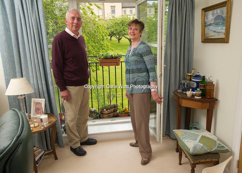 Picture Copyright Chris Watt<br /> Tel -  07887 554 193<br /> info@chriswatt.com<br /> www.chriswatt.com<br /> <br /> <br /> McCarthy &amp; Stone's Retirement Living development, Scholars Gate, St Andrews. Case study, Mr &amp; Mrs Aitken in their apartment.
