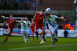 Billy Kee of Accrington Stanley scores a goal to make it 1-0 - Mandatory by-line: Robbie Stephenson/JMP - 17/04/2018 - FOOTBALL - Wham Stadium - Accrington, England - Accrington Stanley v Yeovil Town - Sky Bet League Two