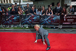 © licensed to London News Pictures. London, UK 18/06/2012. Keith Lemon posing like Spider-Man at the premiere of The Amazing Spider-Man today in Leicester Square. Photo credit: Tolga Akmen/LNP