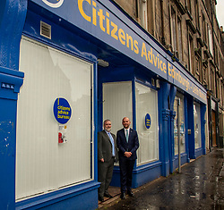 Pictured: Citizens Advice Scotland's CEO Derek Mitchell and Ben Macpherson<br />