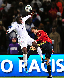 Jozy Altidore from USA  during the Semi Final soccer match of the 2009 Confederations Cup between Spain and the USA played at the Freestate Stadium,Bloemfontein,South Africa on 24 June 2009.  Photo: Gerhard Steenkamp/Superimage Media.