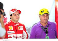 Grand prix de Bahraïn 2010..Circuit de shakir. 12 mars 2010..Premiere séance d'essai...Photo Stéphane Mantey/ L'Equipe. *** Local Caption *** massa (felipe) - (bre) -..massa (luiz antonio)