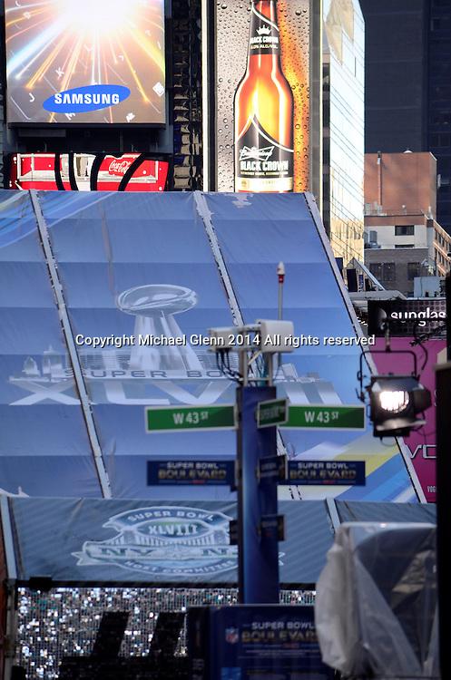 29 Jan 2014 NYC  Superbowl boulevard begins in NYC on Broadway  Michael Glenn