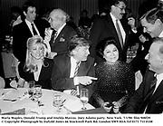 Marla Maples, Donald Trump and Imelda Marcos. Joey Adams party. New York. 7/1/90. film 908f29<br />© Copyright Photograph by Dafydd Jones<br />66 Stockwell Park Rd. London SW9 0DA<br />Tel 0171 733 0108