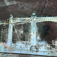 textured abstract urban bridge photo art