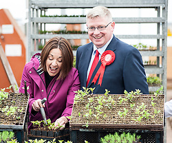 Scottish Labour leader Kezia Dugdale visits Alba Trees in Gladsmuir, East Lothian with local candidate Martin Whitfield as part of the General Election campaign.<br /> <br /> © Dave Johnston/ EEm