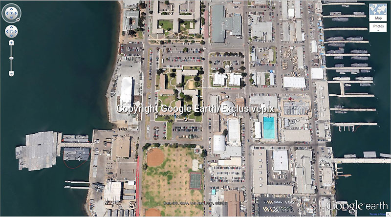 Amazing captures from Google earth<br /> Photo Shows: Swastika-Shaped Building Complex 32&deg;40&rsquo;34.19&Prime;N 117&deg; 9&rsquo;27.58&Prime;W Coronado, California, USA<br /> &copy;Google Earth/Exclusivepix