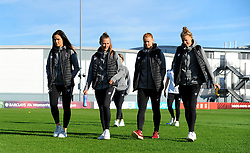 Bristol City Women inspect the pitch prior to kick-off - Mandatory by-line: Nizaam Jones/JMP - 27/10/2019 - FOOTBALL - Stoke Gifford Stadium - Bristol, England - Bristol City Women v Tottenham Hotspur Women - Barclays FA Women's Super League