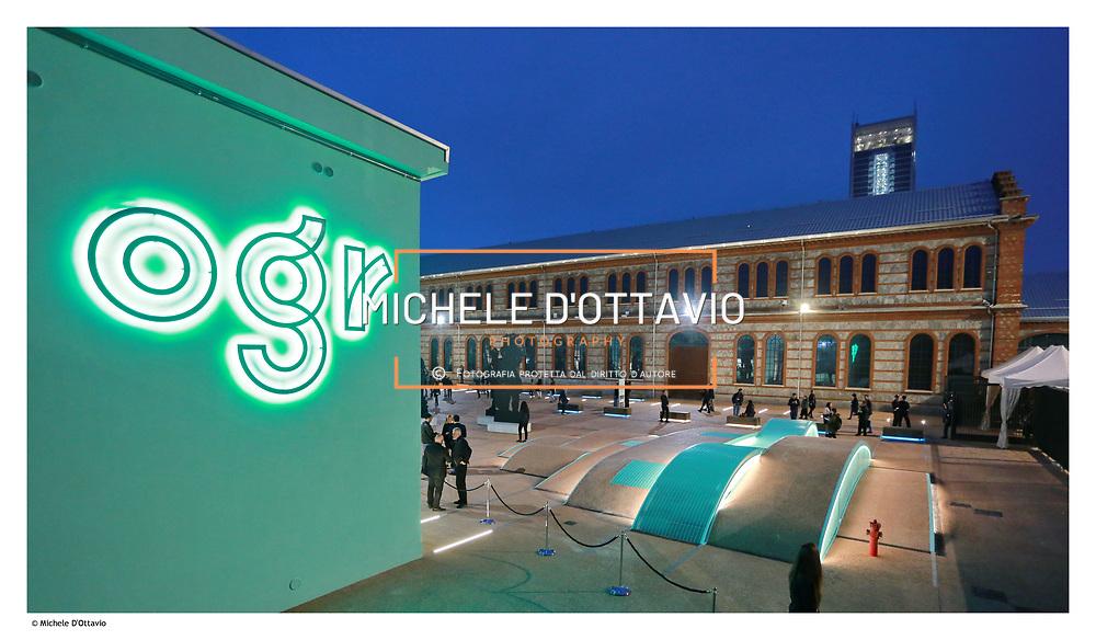 Torino 30 settembre 2017, prima serata di apertura delle Ogr, le ex Officine Grandi Riparazioni di corso Castelfidardo recuperate dopo mille giorni di cantiere  e un investimento della Fondazione Crt di 100 milioni.