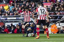 March 18, 2018 - Barcelona, Spain - BARCELONA, SPAIN - MARCH 18: 08 Andres Iniesta from Spain of FC Barcelona during La Liga match between FC Barcelona v Atletic de Bilbao at Camp Nou Stadium in Barcelona on 18 of March, 2018. (Credit Image: © Xavier Bonilla/NurPhoto via ZUMA Press)