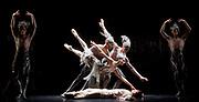 The Birmingham Royal Ballet <br /> Three Short Story Ballets (mixed Bill) <br /> at Birmingham Hippodrome, Birmingham, Great Britain <br /> Rehearsal 21st June 2017 <br /> <br /> Le Baiser de la f&eacute;e <br /> Choreography by Michael Corder<br /> <br /> Music: Igor StravinskyDesigns: John MacfarlaneLighting: Paule Constable<br /> <br /> CastFairy:  C&eacute;line Gittens <br /> <br /> Young Man: <br /> <br /> Mathias Dingman<br /> <br /> <br /> <br /> <br /> <br /> <br /> <br /> Photograph by Elliott Franks <br /> Image licensed to Elliott Franks Photography Services