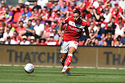 Josh Brownhill (8) of Bristol City on the attack during the EFL Sky Bet Championship match between Bristol City and Nottingham Forest at Ashton Gate, Bristol, England on 4 August 2018. Picture by Graham Hunt.