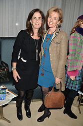 Left to right, LADY RUDDOCK and LAURA LONSDALE twin sister of Geordie Greig at a talk by Geordie Greig about his book 'Breakfast With Lucian' held at Grace, 11c West Halkin Street, London on 22nd January 2014.