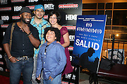 l to r: Anslem Richardson, Reymond Whitman, Cassandra Kate Escobar and Cesaer De Leon at ' Shooting Stars' Premiere during The 13th Annual UrbanWorld Film Festival sponsored by BET Networks held at AMC 34th Street on September 25, 2009 in New York City