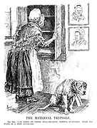 "The Maternal Triangle. The Dog. ""I'm tired of these well-meaning Mother Hubbards. What we want is a new cupboard."""
