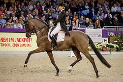 WULFERDING Kira (GER), Soiree d'Amour OLD<br /> Frankfurt - Festhallen Reitturnier 2019<br /> Louisdor-Preis – Finale 2019<br /> Nat. Nachwuchspferde Grand Prix (FN) für 8-10 jährige Pferde – Finale<br /> 22. Dezember 2019<br /> © www.sportfotos-lafrentz.de/Stefan Lafrentz
