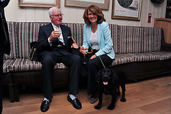 SIR JOCELYN & LADY STEVENS at The Dog's Trust Awards announcement held at George, 87-88 Mount Street, London on 27th March 2012.