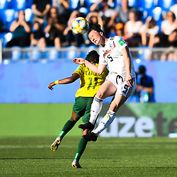Marina Hegering of Germany and Thembi Kgatlana of South Africa during the Women's World Cup match between Germany and South Africa at Stade de la Mosson on June 17, 2019 in Montpellier, France. (Photo by Alexandre Dimou/Icon Sport)