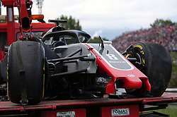 May 13, 2018 - Barcelona, Spain - the Haas of Romain Grosjean Aafter the accident during the GP Spain F1, on 13th May 2018 in Barcelona, Spain. (Credit Image: © Joan Valls/NurPhoto via ZUMA Press)