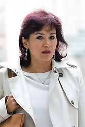 © Licensed to London News Pictures. 23/07/2017. LONDON, UK.  LAURA ALVAREZ, wife of Jeremy Corbyn arrives at BBC Broadcasting House to appear on the Andrew Marr Show.  Photo credit: Vickie Flores/LNP