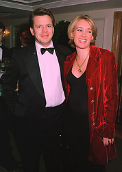 MR & MRS JAMES BAKER she is Anastasia Cooke TV presenter and former friend of Prince Edward, at a ball in London on 20th November 1997.MDN 35